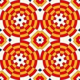 Heller ethnischer abstrakter Hintergrund Nahtloses Muster des bunten Kaleidoskops mit dekorativer runder Verzierung Stockfotografie