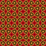 Heller ethnischer abstrakter Hintergrund Nahtloses Muster des Kaleidoskops mit dekorativer Verzierung in der afrikanischen Art Lizenzfreies Stockfoto