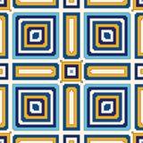 Heller ethnischer abstrakter Hintergrund Nahtloses Muster mit symmetrischer geometrischer Verzierung Stockbild