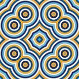 Heller ethnischer abstrakter Hintergrund Nahtloses Muster mit symmetrischer geometrischer Verzierung Lizenzfreies Stockfoto