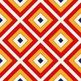 Heller ethnischer abstrakter Hintergrund Nahtloses Muster mit symmetrischer geometrischer Verzierung Lizenzfreie Stockbilder