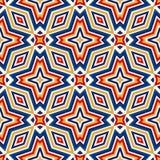 Heller ethnischer abstrakter Hintergrund Nahtloses Muster mit symmetrischer geometrischer Verzierung Stockfotos