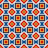 Heller ethnischer abstrakter Hintergrund Nahtloses Muster mit symmetrischer geometrischer Verzierung Lizenzfreies Stockbild