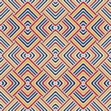 Heller ethnischer abstrakter Hintergrund Nahtloses Muster mit symmetrischer geometrischer Verzierung Lizenzfreie Stockfotografie
