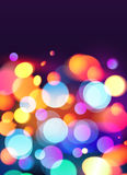 Heller Farbe-bokeh Lichteffekt-Vektorhintergrund Lizenzfreies Stockfoto