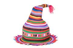 Heller farbiger Hut der Maskerade Stockbild