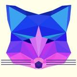 Heller farbiger olygonal Fuchs stock abbildung