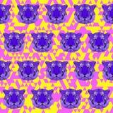 Heller farbiger polygonaler Tigermusterhintergrund lizenzfreie abbildung