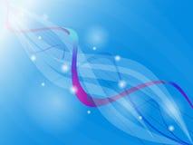 Heller futuristischer blauer, purpurroter Hintergrund mit Kreisen, bewegt wellenartig Lizenzfreies Stockfoto