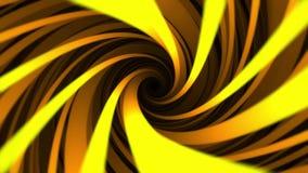 Heller gelber Helix, endlose Rotation auf abstrakten nahtlosen Schleifenhintergrund Hypnotischer spinnender Trichter mit breiter  vektor abbildung