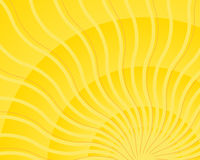 Heller gelber wellenförmiger Sonnestrahlleuchte-Impulsvektor Stockbilder