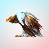 Heller gemalter alter sitzender Adler lizenzfreie abbildung