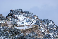 Heller Gipfel Stockfotografie