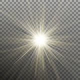 Heller glänzender Stern Sprengung von Explosion Transparenter Effekt Vektor ENV 10 stock abbildung
