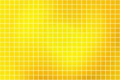 Heller goldener gelber quadratischer Mosaikhintergrund über Weiß vektor abbildung