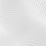Heller Gray Distort Halftone Square Background Lizenzfreie Stockbilder
