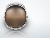 Heller Hintergrund-Astronautensturzhelm mit Reflexion Stockfotos