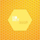 Heller Hintergrund der Bienenwaben Lizenzfreie Stockfotografie