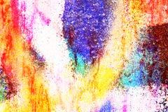 Heller Hintergrund des ursprünglichen bunten Regenbogens Makronahaufnahmewand, gemalt der alten Farbe Stockfoto