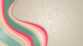 Heller Hintergrund mit mehrfarbigen Linien, Entwurfsmuster lizenzfreie abbildung