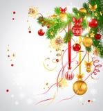 Heller Hintergrund mit Weihnachtsbaum Lizenzfreies Stockbild