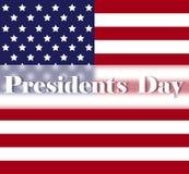 Heller Hintergrund Präsidenten Day mit amerikanischer Flagge Feiertagsplakat- oder -plakatschablone Lizenzfreie Stockfotografie