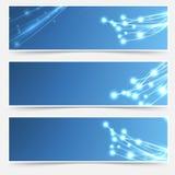 Heller Kabelscheinfliegertitel-Seitenendesatz Stockbilder