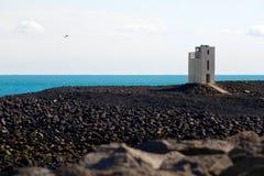 Heller Kontrollturm der Südküste Lizenzfreies Stockbild