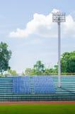 Heller Kontrollturm des Stadions Lizenzfreie Stockfotos