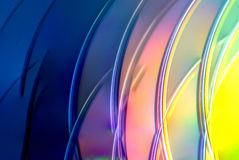 Heller Kunst-CDregenbogen färbt Schönheit Lizenzfreies Stockbild
