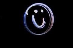 Heller malender Smiley Face Stockfotos