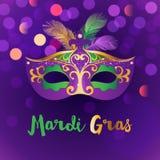 Heller Mardi Gras-Hintergrund Lizenzfreie Stockbilder