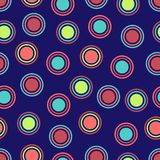 Heller Polka-Punkt-Hintergrund Lizenzfreies Stockfoto