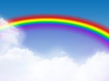Heller Regenbogen lizenzfreie stockbilder