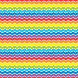 Heller Regenbogenzickzackhintergrund Stockbild