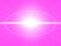 Heller rosa Hintergrund mit dem Sonnenglänzen Lizenzfreies Stockbild