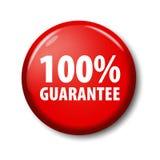 Heller roter Knopf mit Wörter ` 100% Garantie ` Stockfoto