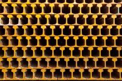Heller Schienen-Stahl. Stockfotos