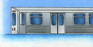 Heller Schienen-Zug 1 Stockfoto