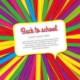 Heller Schulhintergrund von farbigen Bleistiften Lizenzfreie Stockfotos