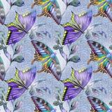 Heller Sommer endlos mit Schmetterling lizenzfreie abbildung