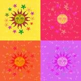 Heller Sonnenschein mit Blumen für eine gute Laune Lizenzfreie Stockfotos