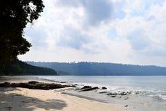 Heller Sunny Day in Serene Calm Beach, Radhanagar-Strand, Andaman u. Nikobaren, Indien stockfotos