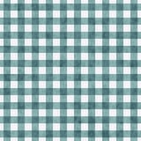 Heller Teal Gingham Pattern Repeat Background Lizenzfreie Stockfotos
