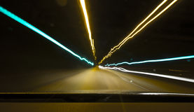 Heller Tunnel Lizenzfreie Stockfotografie