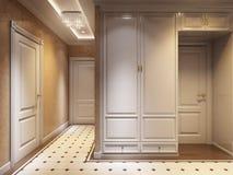 Heller und gemütlicher klassischer moderner Hall Interior Design Stockfoto