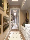 Heller und gemütlicher klassischer moderner Hall Interior Design Stockfotografie