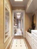 Heller und gemütlicher klassischer moderner Hall Interior Design Stockfotos