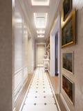 Heller und gemütlicher klassischer moderner Hall Interior Design Stockbild