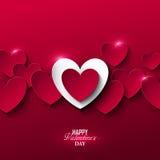 Heller Valentinsgruß ` s Tageshintergrund Stockbild